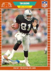 1989 Tim Brown Pro-Set Rookie Card