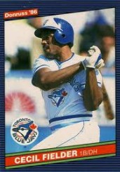 1986 Cecil Fielder Dronuss Rookie Card