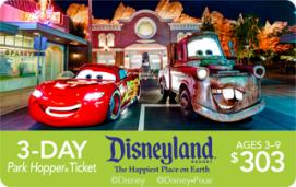 Disneyland Resort 3-Day Park Hopper Child eTicket