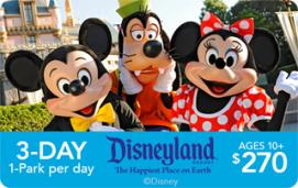 Disneyland Resort 3-Day/1-Park Adult eTicket
