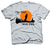 """One Man Wolf Pack"" Crazy Dog T-Shirt"