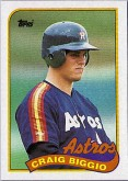 1989 Craig Biggio Topps Rookie Card