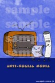 """Anti-Social Media"" - AGENT-x iPhone Wallpaper"