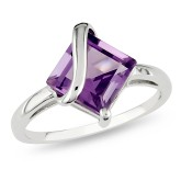 Amethyst Silver Fashion Ring