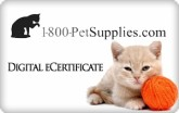 1-800-Pet Supplies.com e-Gift Card - $50
