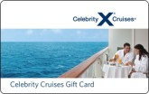 Celebrity Cruises eGift Card - $100