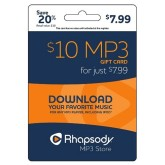 Rhapsody MP3 e-Gift Card - $10
