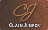 Claim Jumper e-Gift Card - $10