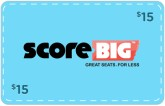 ScoreBig - $15 Off