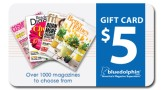 $5 Blue Dolphin Magazines Gift Card