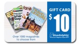 $10 Blue Dolphin Magazines Gift Card