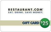 Restaurant.com  - $25 eGift Card