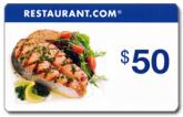 Restaurant.com  - $50 eGift Card