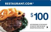 Restaurant.com  - $100 eGift Card