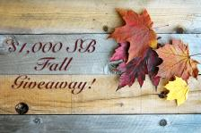 $1,000 Fall Giveaway!