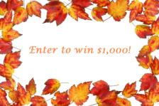 Fall $1,000 Giveaway