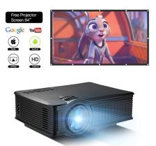 "HD 1080P Video Projector with 84"" Portable Screen"