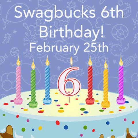 Happy 6th Birthday Swagbucks and Giveaway