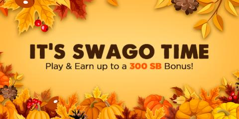 Get more free gift cards during November Swago with Spin & Win (Intl)