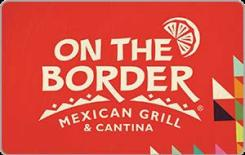 On The Border $15 Gift Card