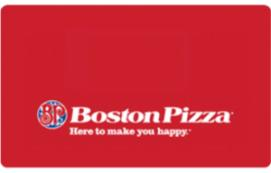 Boston Pizza eGift Card $10 CAD