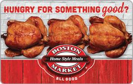 Boston Market $25 Gift Card