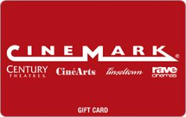 Cinemark $15 Gift Card