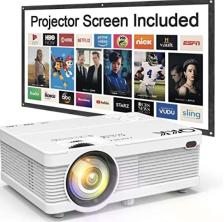 Portable Mini LCD Projector with Screen Giveaway